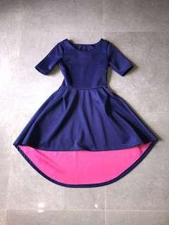 🚚 Navy Symmetrical dress