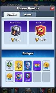 *Relist* High Ladder Clash Royale Account For Sale