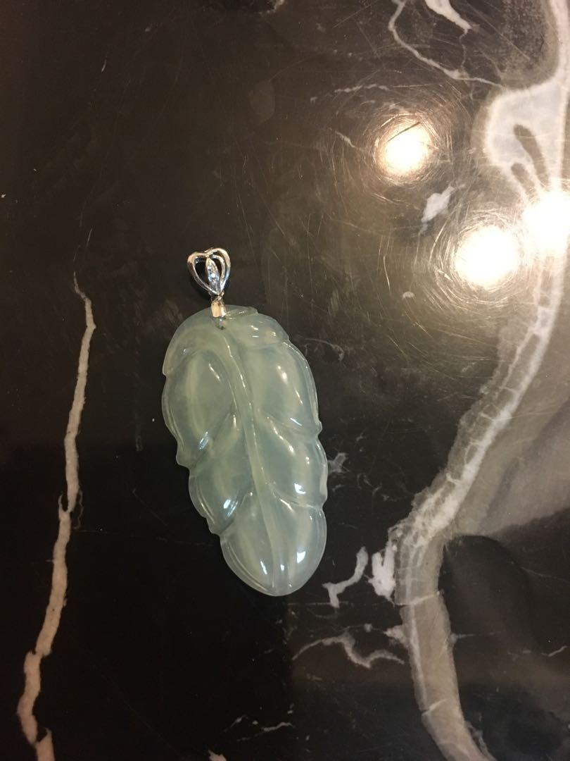18k鑽石天然翡翠吊墜 18k Diamond real jade pendant