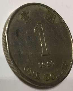 錯體1997年一圓硬幣