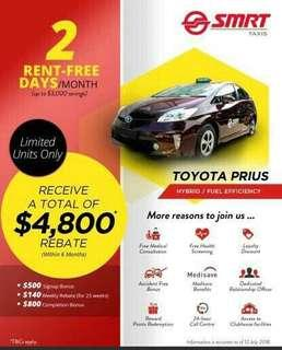 You are invited to join us as a cabby hirer with ATTRACTIVE incentives and rental FREE days