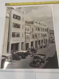Prewar Colonial Singapore B&W Photo: The Office If The Straits Times Singapore.