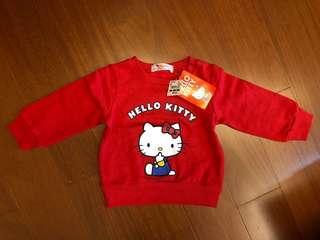 🚚 Hello Kitty 棉質衛衣 95cm