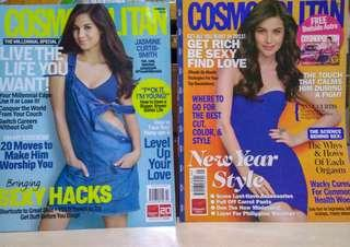 Cosmopolitan - Jasmin Curtis (October 2015) and Anne Curtis (January 2011)
