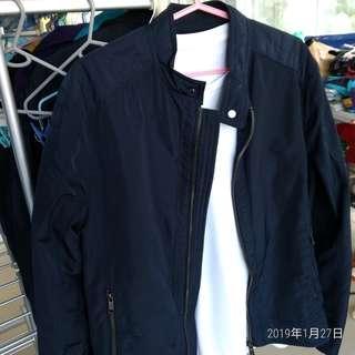 Zara 深藍色車手 jacket size : eur 48 - 50 and M size