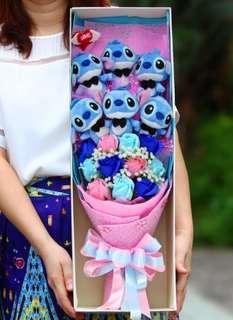 🚚 Valentine Flower Bouquet / Hello Kitty Bouquet / Melody bouquet / Stitch Bouquet / Winnie the Pooh Bouquet / Eeyore Bouquet / Tigger Bouquet