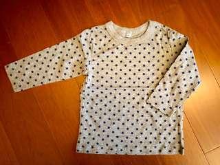 🚚 日本西松屋 棉質上衣 80cm
