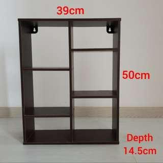Wooden Deco Display Stand Wall Hanging Shelf Shelve Rack