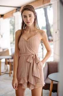 Thread Theory: Won By One Playsuit in Nude Pink (XS)