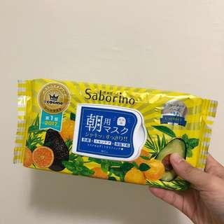 日本saborino早安朝用黃色保濕60秒面膜