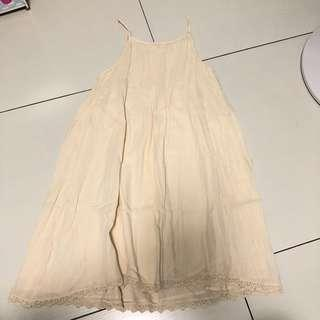 Mango cream A line dress