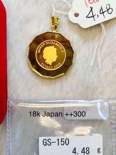 24k Hongkong gold pendant