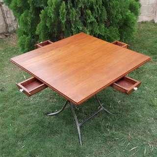 1950s Teakwood Mahjong Table
