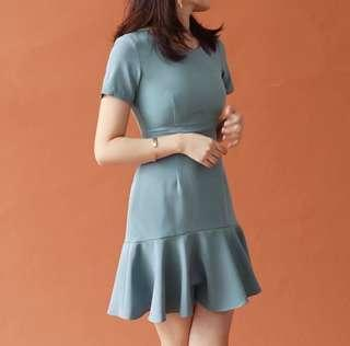 Grayish Blue Dress