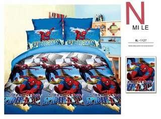 NEW DESIGN BEDSHEET SET 100% COTTON SPIDER-MAN / HELLOKITTY / MICKEY MOUSE / FROZEN / MCQUEEN / PONY / UNICORN / AVENGER