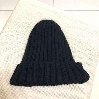 黑色針織毛帽