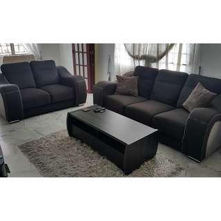 Sofa (3+2) and a coffee table