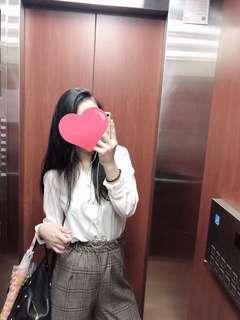 🚚 韓國🇰🇷 質感雪紡長袖白上衣