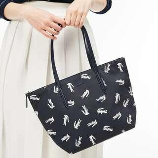 Lacoste Croc Print Small Zip Tote Bag