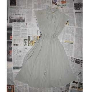 Dusty Green Vintage Dress