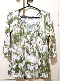 Camouflage 3/4 Sleeved Blouse (M)