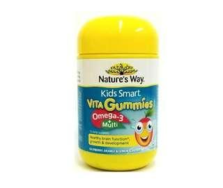 NATURE'S WAY 兒童 Omega-3 複合維生素魚油軟糖 50粒