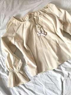 🚚 Zara boho blouse