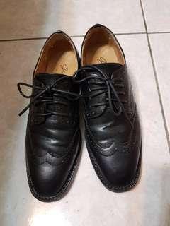 Grace Gift雕花方頭牛津鞋 皮鞋 36