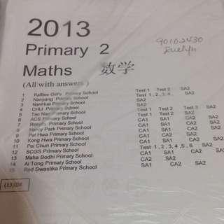 P2 (2013) Maths Exam Papers