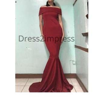 Mermaid long dress evening gown serpentina red white black blue green
