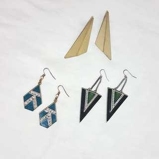 Geometric fashion earrings