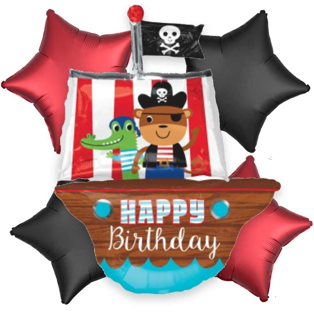 20 OFF Pirate Ship Happy Birthday Balloon Bouquet Boys
