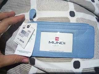MUNDI Slim Wallet (blue)  less 50% off