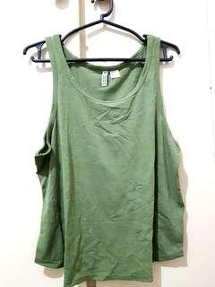 H&M Army Green Top (S-L)