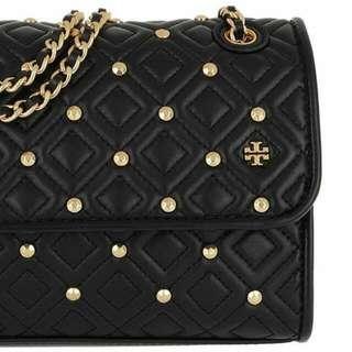 Tory Burch Fleming Quilted Stud Hand Bag