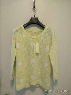 Knitted long sleeves blouse - 70% lower than original price