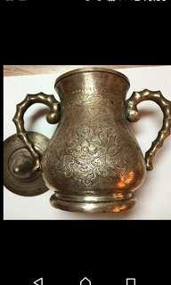 """【●】歐洲古董銀雕刻""""上百年"""