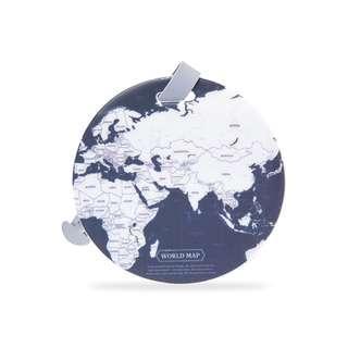 🚚 World Map Luggage Tag