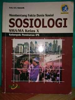 Buku sosiologi untuk SMA Kelas X
