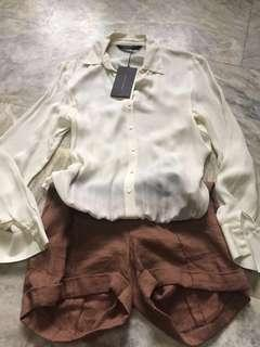 💝BNWT Zara longsleeves with shorts terno rompers