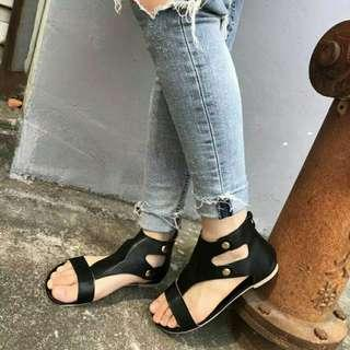 🚚 Ladies Women Sandals Fashion Flat Roman Shoes Casual Shoes red bottom high heels