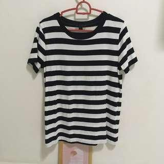 COS dark navy and white striped tee