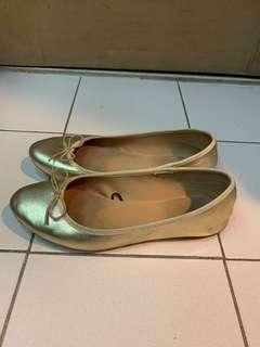H&M Gold Ballet Flats