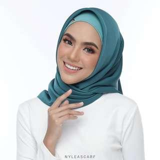 🚚 Musalmah Square Shawl by Nyleascarf - Mermaid