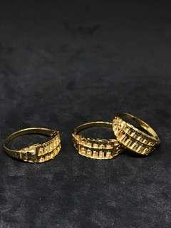 🚚 916 Gold Abacus Ring