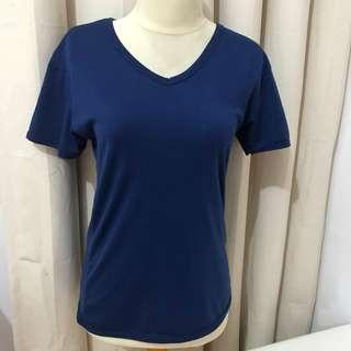 T-shirt kaos polos navy