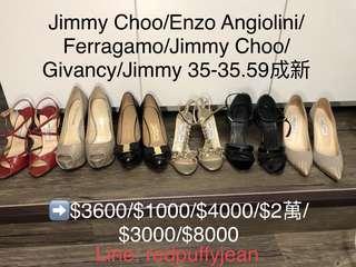 Jimmy choo ferragamo Enzo chanel roger vivier rv
