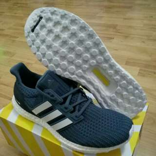 d698ab8387cde 🔥UK8 9🔥 Adidas Ultra Boost 4.0 Show Your Stripes Navy Blue Tech Ink