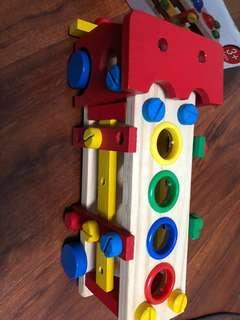 木頭玩具車