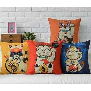🚚 Japanese Style Lucky cat Fortune Cat Cushion Pillow Cases